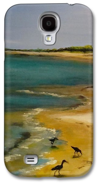 Yellow Paintings Galaxy S4 Cases - Tuesday morning at Horn Island Galaxy S4 Case by Leslie Dobbins