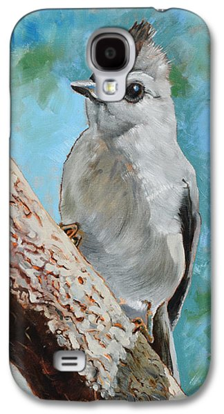 Tufted Titmouse #1 Galaxy S4 Case by Amber Foote