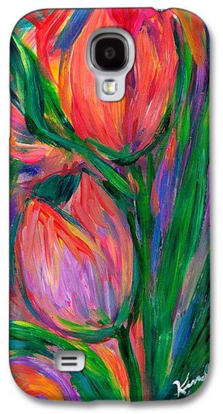 Nature Abstracts Galaxy S4 Cases - Tulip Edge Galaxy S4 Case by Kendall Kessler