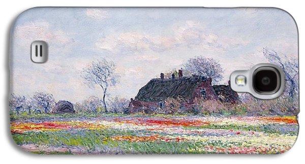 Tulip Fields At Sassenheim Galaxy S4 Case by Claude Monet