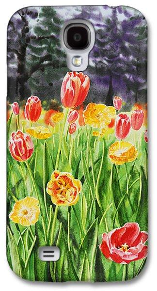 Windmill Galaxy S4 Cases - Tulip Garden in San Francisco Galaxy S4 Case by Irina Sztukowski