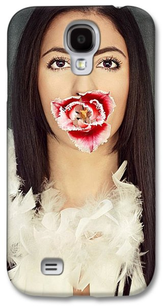 Studio Pyrography Galaxy S4 Cases - Tulip girl Galaxy S4 Case by Aleksandra Nikolic