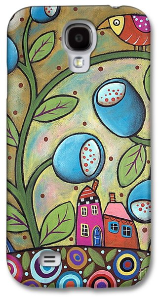 Abstract Prints For Sale Paintings Galaxy S4 Cases - Tulip Town Galaxy S4 Case by Karla Gerard