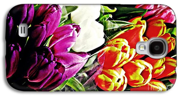Botanical Galaxy S4 Cases - Tulips For Sale 2 Galaxy S4 Case by Sarah Loft