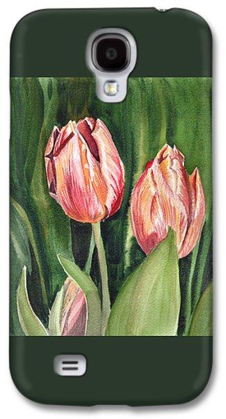 Botanical Galaxy S4 Cases - Tulips  Galaxy S4 Case by Irina Sztukowski