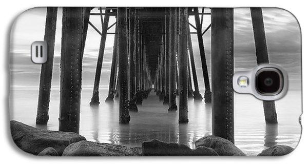 Seaside Galaxy S4 Cases - Tunnel of Light - Black and White Galaxy S4 Case by Larry Marshall