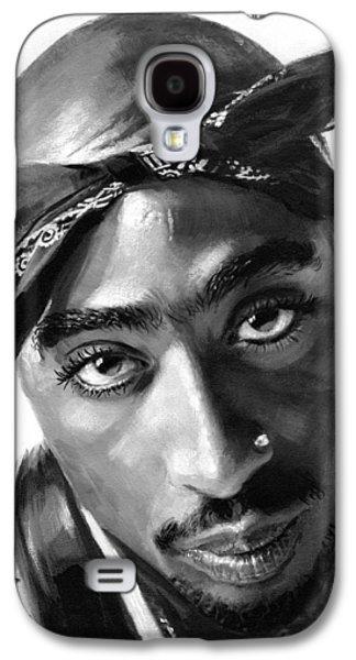 Artist Galaxy S4 Cases - Tupac Shakur Galaxy S4 Case by Ylli Haruni