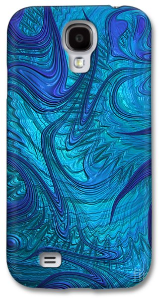 Blue Abstracts Digital Galaxy S4 Cases - Turbulence Galaxy S4 Case by John Edwards