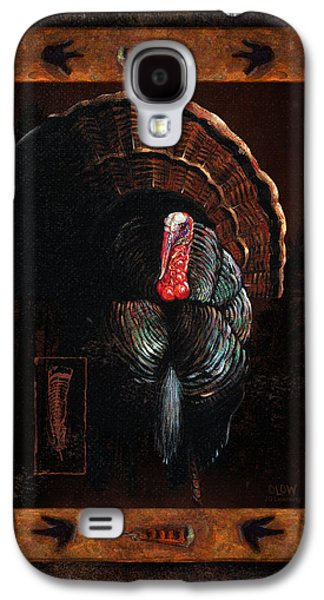Cabin Paintings Galaxy S4 Cases - Turkey Lodge Galaxy S4 Case by JQ Licensing