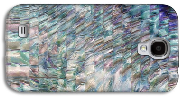 Abstract Forms Galaxy S4 Cases - Turquoise Blend Galaxy S4 Case by Jack Zulli