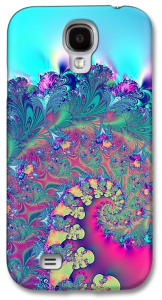 Abstract Digital Art Galaxy S4 Cases - Turquoise Coral Reef Fantasy Fractal Abstract Galaxy S4 Case by Rose Santuci-Sofranko