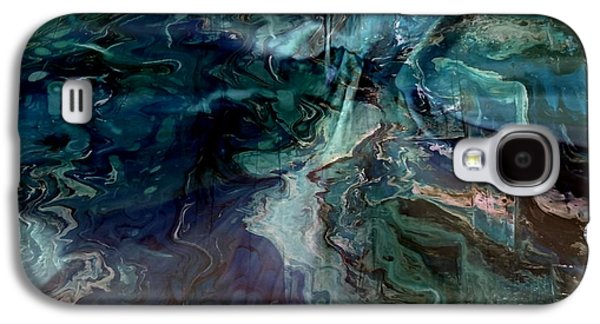 Abstract Digital Paintings Galaxy S4 Cases - Turquoise Magic Galaxy S4 Case by TLynn Brentnall