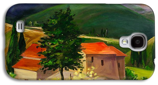 Tuscan Hills Galaxy S4 Cases - Tuscan hills Galaxy S4 Case by Elise Palmigiani