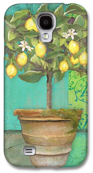 Tuscan Lemon Topiary - Damask Pattern 1 Galaxy S4 Case by Audrey Jeanne Roberts