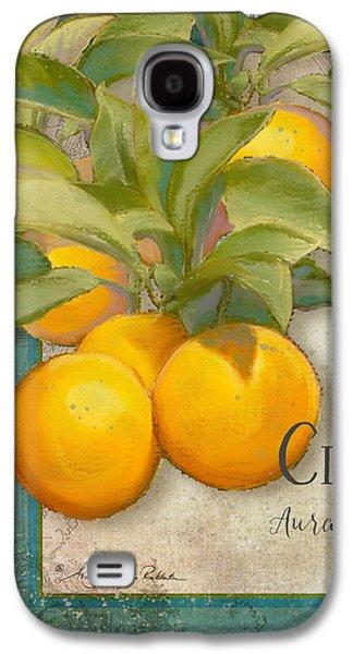 Tuscan Orange Tree - Citronier Aurantiaco Lignum Vintage Galaxy S4 Case by Audrey Jeanne Roberts