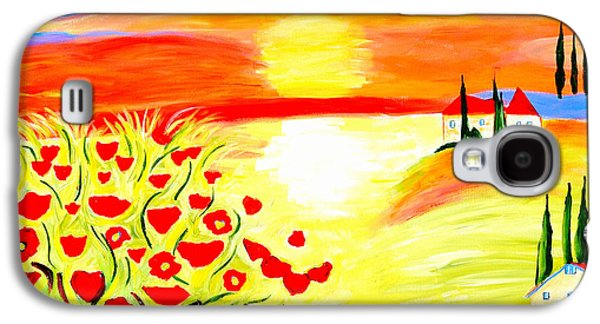 Tuscan Poppies Galaxy S4 Case by Art by Danielle