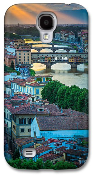 Tuscan Sunset Galaxy S4 Cases - Tuscan Sunbeams Galaxy S4 Case by Inge Johnsson