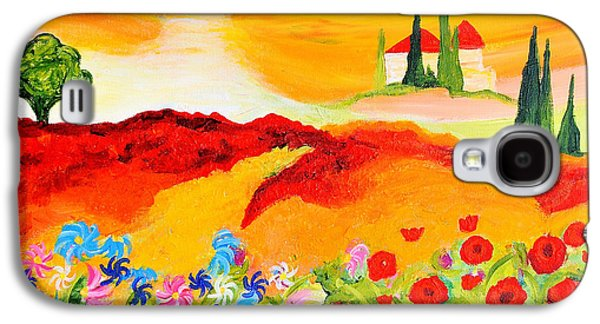 Tuscan Wildflowers Galaxy S4 Case by Art by Danielle