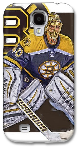 Tuukka Rask Boston Bruins Oil Art 1 Galaxy S4 Case by Joe Hamilton
