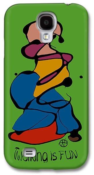 Abstract Digital Paintings Galaxy S4 Cases - Twerking is FUN Galaxy S4 Case by Nancy Carlton