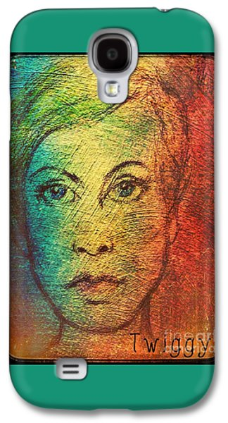 Twiggy Galaxy S4 Cases - Twiggy in Oils Galaxy S4 Case by Joan-Violet Stretch