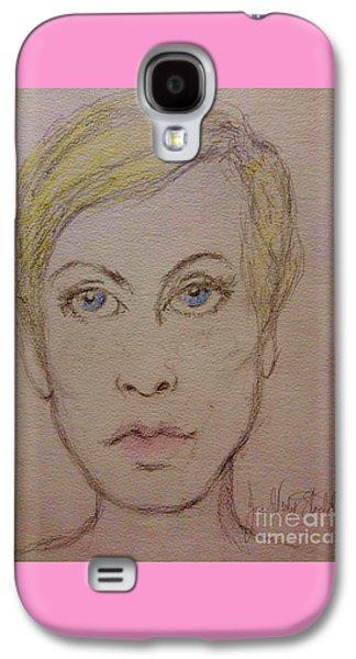 Twiggy Galaxy S4 Cases - Twiggy Galaxy S4 Case by Joan-Violet Stretch