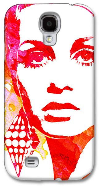 Twiggy Paintings Galaxy S4 Cases - Twiggy Galaxy S4 Case by Veronica Crockford