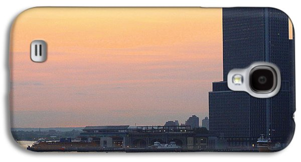 Business Galaxy S4 Cases -  The New York Harbor at Dusk Galaxy S4 Case by  Photographic Art and Design by Dora Sofia Caputo
