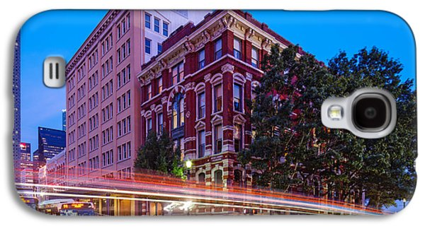 Historic Downtown Franklin Galaxy S4 Cases - Twilight Blue Hour Shot of the Cotton Exchange Building in Downtown Houston - Harris County Texas  Galaxy S4 Case by Silvio Ligutti