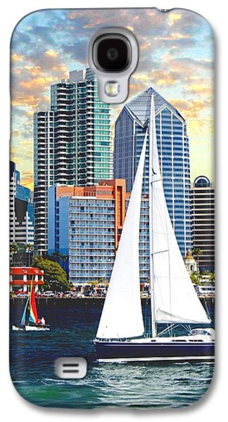 Sailboats At The Dock Galaxy S4 Cases - Twilight Harbor Curise1 Galaxy S4 Case by Ronald Chambers