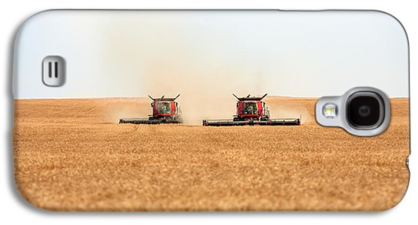 Machinery Galaxy S4 Cases - Twin Combines Galaxy S4 Case by Todd Klassy
