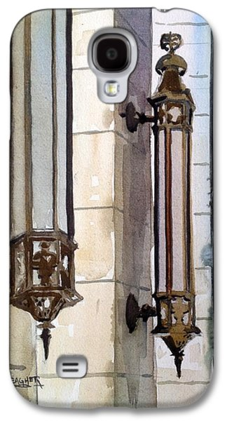Wwi Paintings Galaxy S4 Cases - Twin Sconces Galaxy S4 Case by Spencer Meagher