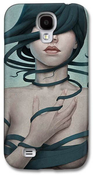 Surrealism Galaxy S4 Cases - Twisted Galaxy S4 Case by Diego Fernandez