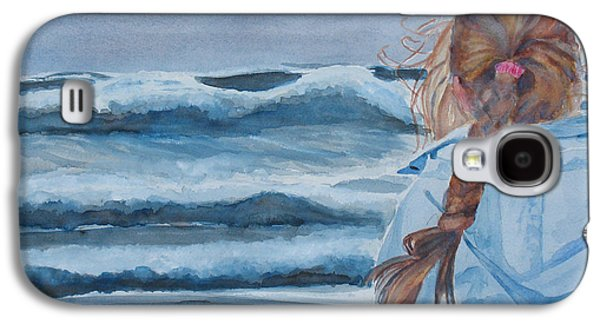 Storms Paintings Galaxy S4 Cases - Twixt Wind and Water II Galaxy S4 Case by Jenny Armitage