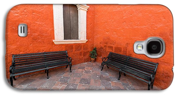 Two Benches In A Monastery Galaxy S4 Case by Jess Kraft
