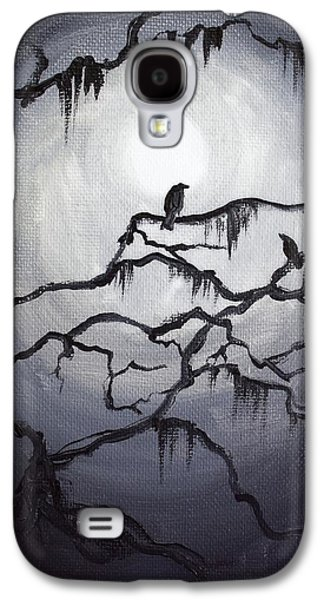 Creepy Galaxy S4 Cases - Two Crows and Spanish Moss Galaxy S4 Case by Melissa Herrin