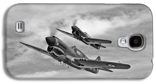 P-40 Galaxy S4 Cases - Two Curtiss P-40 Warhawks In Flight Galaxy S4 Case by Scott Germain