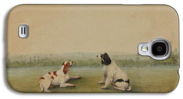 Two Dogs In A Landscape Galaxy S4 Case by MotionAge Designs