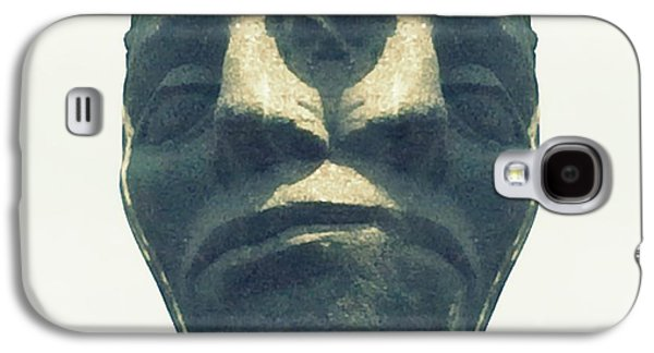 Statue Portrait Galaxy S4 Cases - Two Faced Galaxy S4 Case by Marcia Lee Jones