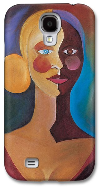 Two Colors Paintings Galaxy S4 Cases - Two Faces of Eve Galaxy S4 Case by Ikahl Beckford