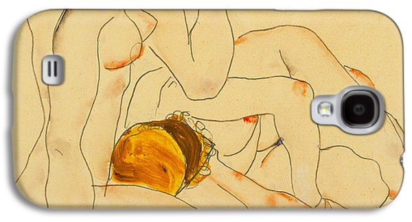 Lesbian Paintings Galaxy S4 Cases - Two Friends Galaxy S4 Case by Egon Schiele