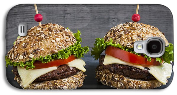 Slider Photographs Galaxy S4 Cases - Two gourmet hamburgers Galaxy S4 Case by Elena Elisseeva