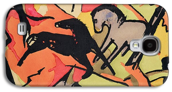 Two Horses Galaxy S4 Case by Franz Marc