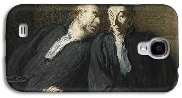 Two Lawyers Conversing Galaxy S4 Case by Honore Daumier