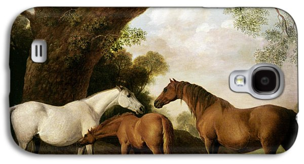 Two Mares And A Foal Galaxy S4 Case by George Stubbs