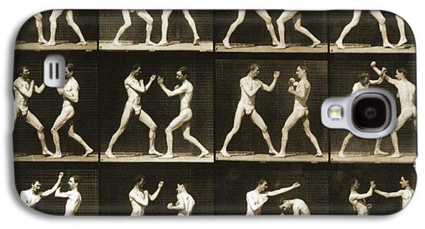 Two Men Boxing Galaxy S4 Case by Eadweard Muybridge