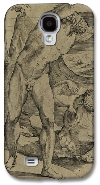 Two Nude Men  One Standing, One Reclining Galaxy S4 Case by Domenico Beccafumi