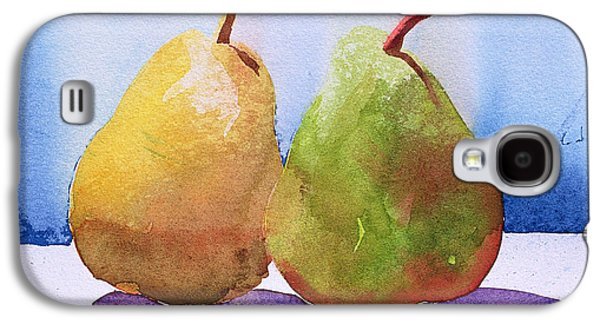 Green And Yellow Galaxy S4 Cases - Two Pears from the Jardinage Galaxy S4 Case by Simon Fletcher