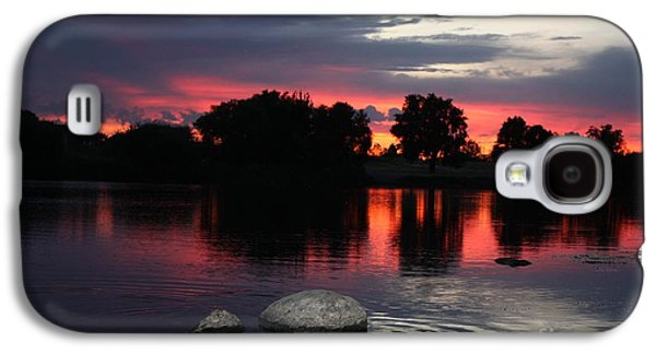 Reflections Of Sky In Water Galaxy S4 Cases - Two Rocks Sunset in Prosser Galaxy S4 Case by Carol Groenen