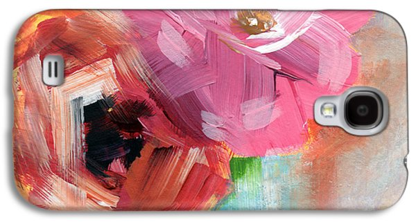 Two Roses- Art By Linda Woods Galaxy S4 Case by Linda Woods